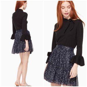 Kate Spade Navy Night Sky Starry Dot Skirt Size 4